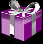Ajándék doboz, lila